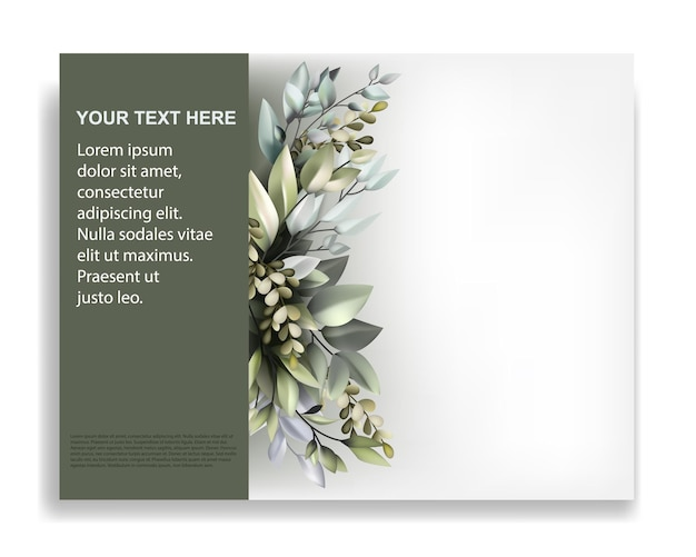 Modèle de brochure avec un bel ornement de flore