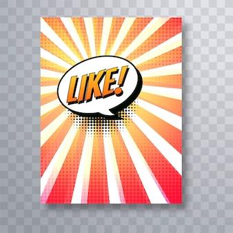 Modèle de brochure belle bande dessinée pop art coloré
