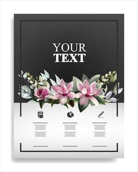 Modèle de brochure avec une belle plante