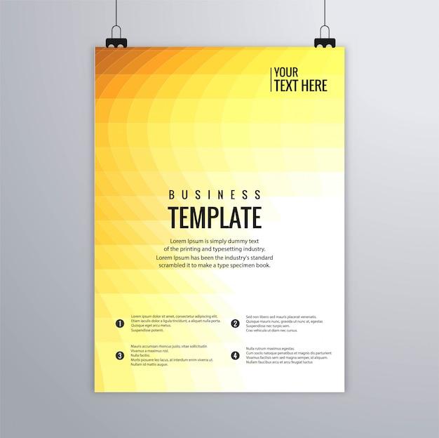 Modèle de brochure buisness coloré mosaïque abstraite