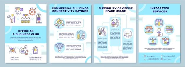 Modèle de brochure de bureau en tant que club d'affaires