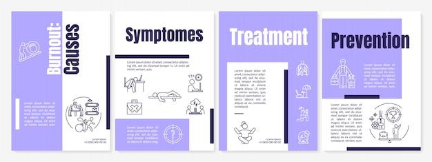 Modèle de brochure de burnout causes