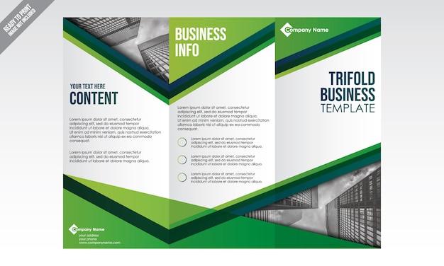 Modèle de brochure commerciale trifold