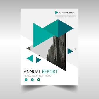 Modèle de brochure commerciale verte avec des formes géométriques
