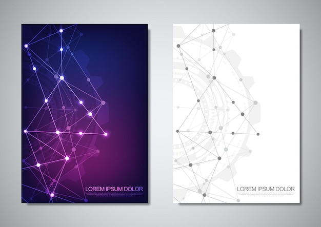 Modèle de brochure ou conception de couverture