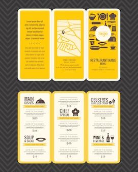 Modèle de brochure de conception de menu restaurant moderne