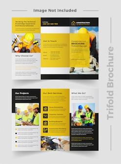 Modèle de brochure de construction
