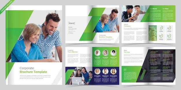 Modèle de brochure corporative de 8 pages