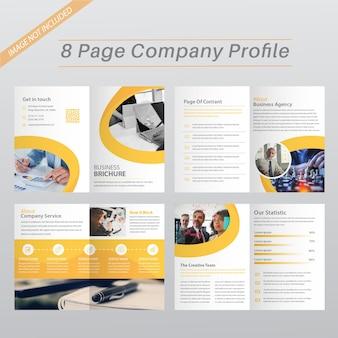 Modèle de brochure corporative jaune