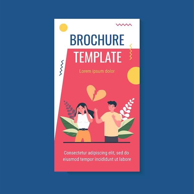 Modèle de brochure de couple au cœur brisé