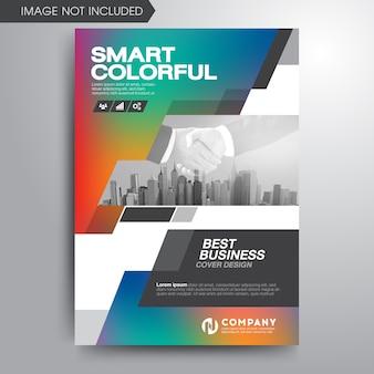 Modèle de brochure de couverture coloré entreprise moderne