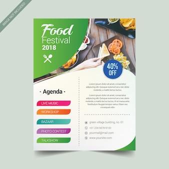 Modèle de brochure de couverture culinaire