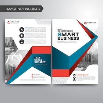Modèle de brochure de couverture d'entreprise moderne