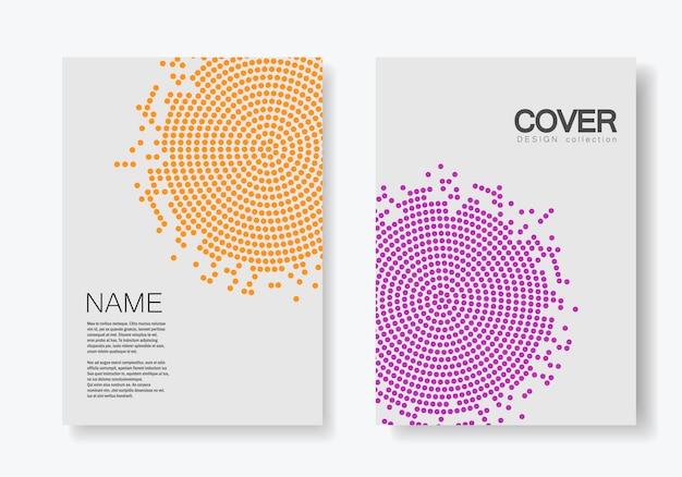 Modèle de brochure avec demi-teintes