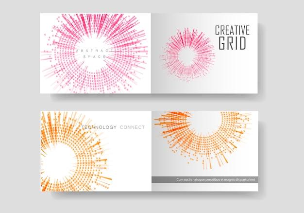 Modèle de brochure avec demi-teintes.