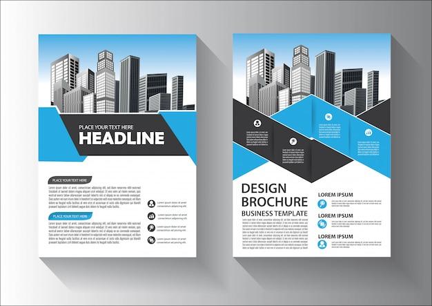 Modèle de brochure ou dépliant avec couleur rouge et noir