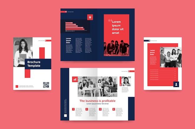 Modèle de brochure à deux volets abstrait
