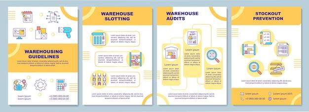 Modèle de brochure de directives d'entreposage