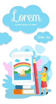 Modèle de brochure de école primaire