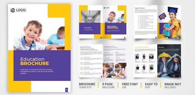 Modèle de brochure d'éducation design psd premium
