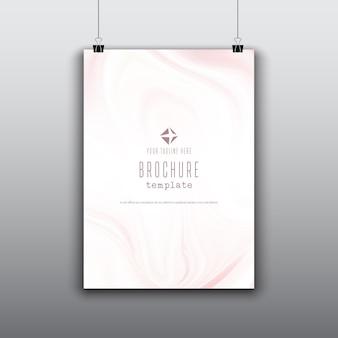 Modèle de brochure avec effet de marbre rose