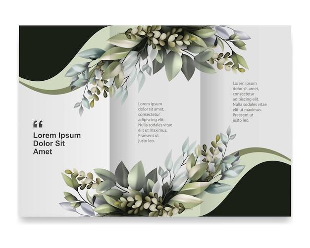 Modèle de brochure avec encadrement de la flore