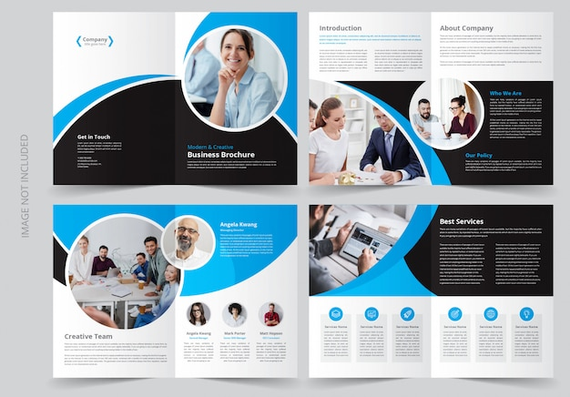 Modèle de brochure d'entreprise de 8 pages