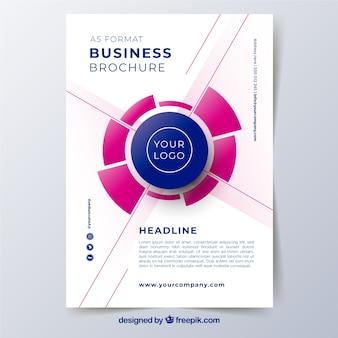 Modèle de brochure d'entreprise a5 abstraite