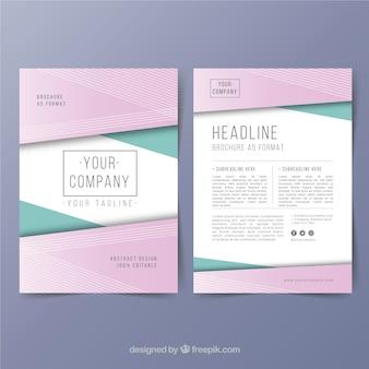 Modèle de brochure d'entreprise a5 créatif
