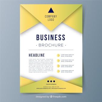 Modèle de brochure d'entreprise a5 moderne