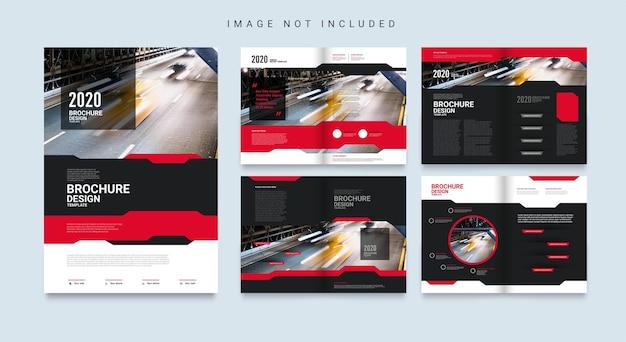 Modèle de brochure d'entreprise abstraite
