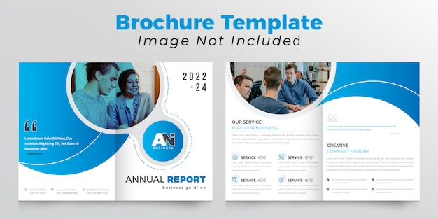 Modèle de brochure d'entreprise bifold créatif