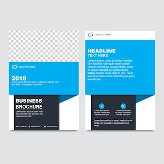 Modèle de brochure d'entreprise avec bleu et noir