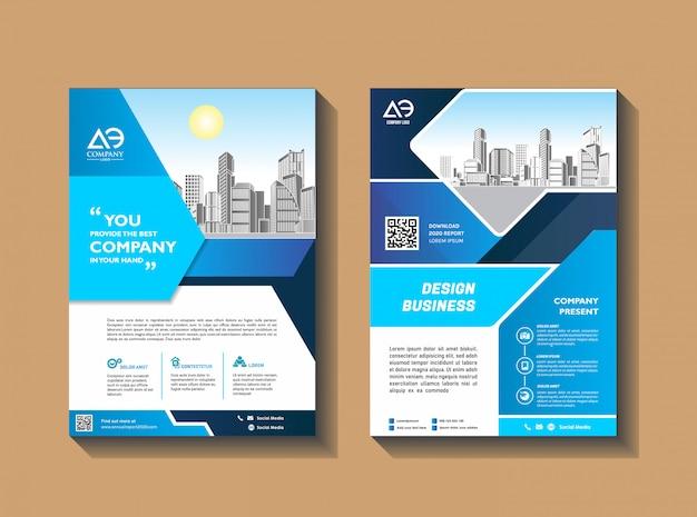 Modèle de brochure d'entreprise brochure présentation rapport annuel du magazine poster
