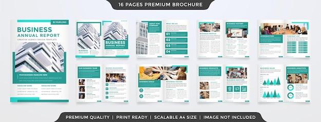 Modèle de brochure d'entreprise avec concept moderne