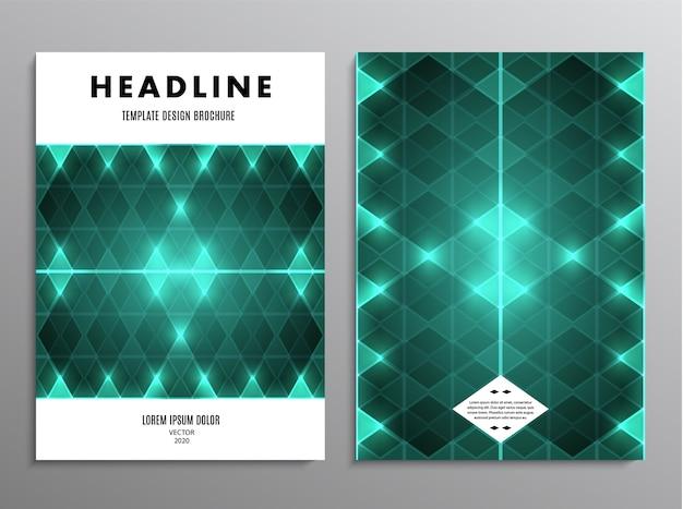Modèle de brochure d'entreprise avec conception abstraite de diamant