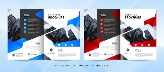 Modèle de brochure d'entreprise créative. modèle de flyer d'entreprise.