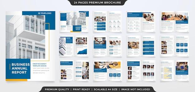Modèle de brochure entreprise à deux volets