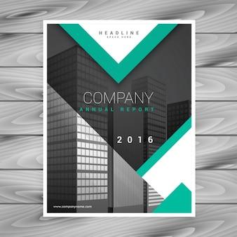 Modèle brochure d'entreprise flyer avec des formes géométriques