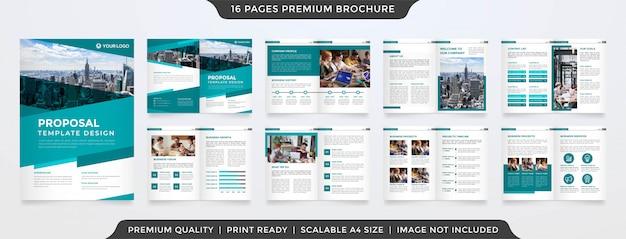 Modèle de brochure d'entreprise minimaliste