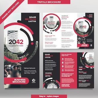 Modèle de brochure d'entreprise en mise en page triple. brochure de conception d'entreprise avec image remplaçable.