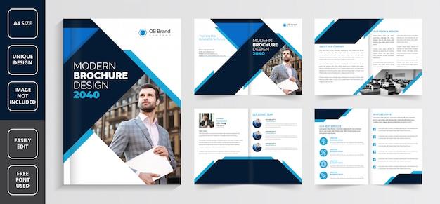Modèle de brochure d'entreprise, modèle de brochure créative, modèle de brochure d'entreprise, modèle de brochure de profil d'entreprise, modèle de brochure d'entreprise de pages, modèle de brochure d'entreprise de 8 pages,