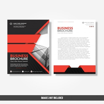 Modèle de brochure de l'entreprise moderne