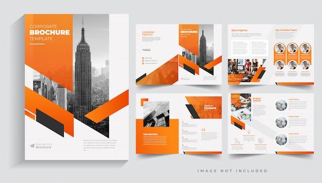 Modèle de brochure d'entreprise pages