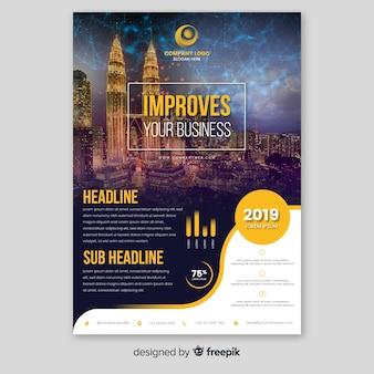 Modèle de brochure d'entreprise avec photo