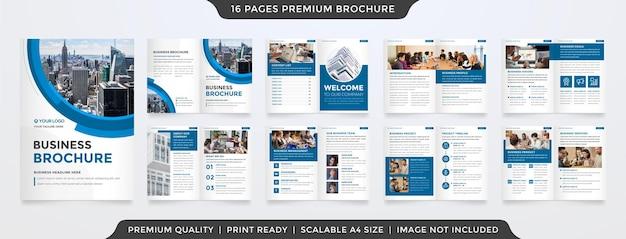 Modèle de brochure d'entreprise avec un style minimaliste