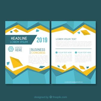 Modèle de brochure d'entreprise en taille a5