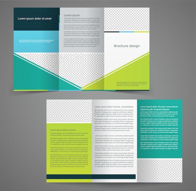 Modèle de brochure d'entreprise à trois volets, conception de modèle recto verso
