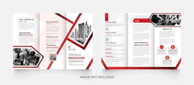 Modèle de brochure d'entreprise à trois volets créatif