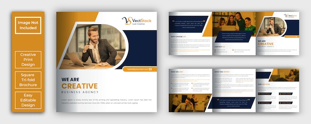 Modèle de brochure d'entreprise à trois volets